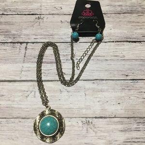 Vintage Paparazzi Turquoise Bead Necklace